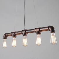 Nordic Industrial loft iron pipe Pendant light Edison Vintage Bulbs E27 5 Arms Lights for Home/Bar/Cafe Decorative Lighting