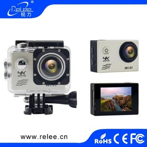 Ultra HD 4K WiFi action camera sport Camcorder 1080p/60 fps 170 degrees Angle 2 inch LCD 30 meters 4x Zoom 4k 30fps waterproof