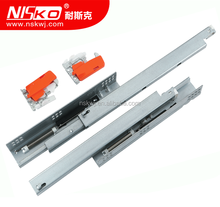 Full extention soft close drawer slide with long holding bracket undermount