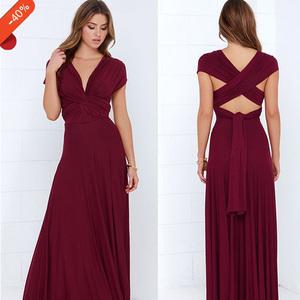 Dusty Rose Bridesmaid Infinity Dresses Floor Length Maxi Wrap Convertible Multiway Rosewood Wedding Dress