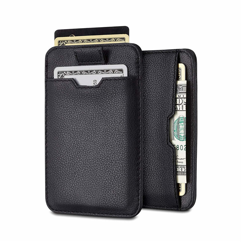 Top Quality Italian Genuine Leather Men Slim Wallet for Men with RFID Protection
