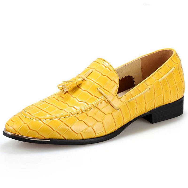 Vintage Yellow Shoes Men