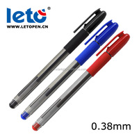 Leto GP-5932 Ultra Micro & Extra Fine Point -0.38mm-smooth,black blue red gel pen
