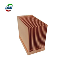 Customized dense design copper 6000 series skived fins heatsink