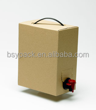 Custom Aluminium Foil Plastic Packaging Bag In Box From 1 To 25l Size For