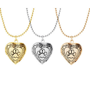 2018 Wholesale Charm Heart Magnetic Floating Living Memory Lockets Pendant Necklace