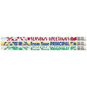 D1576 Seasons Greetings From Your Principal - 144 Christmas Pencils