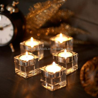 crystal tealight candle holders cube tealight candle holder