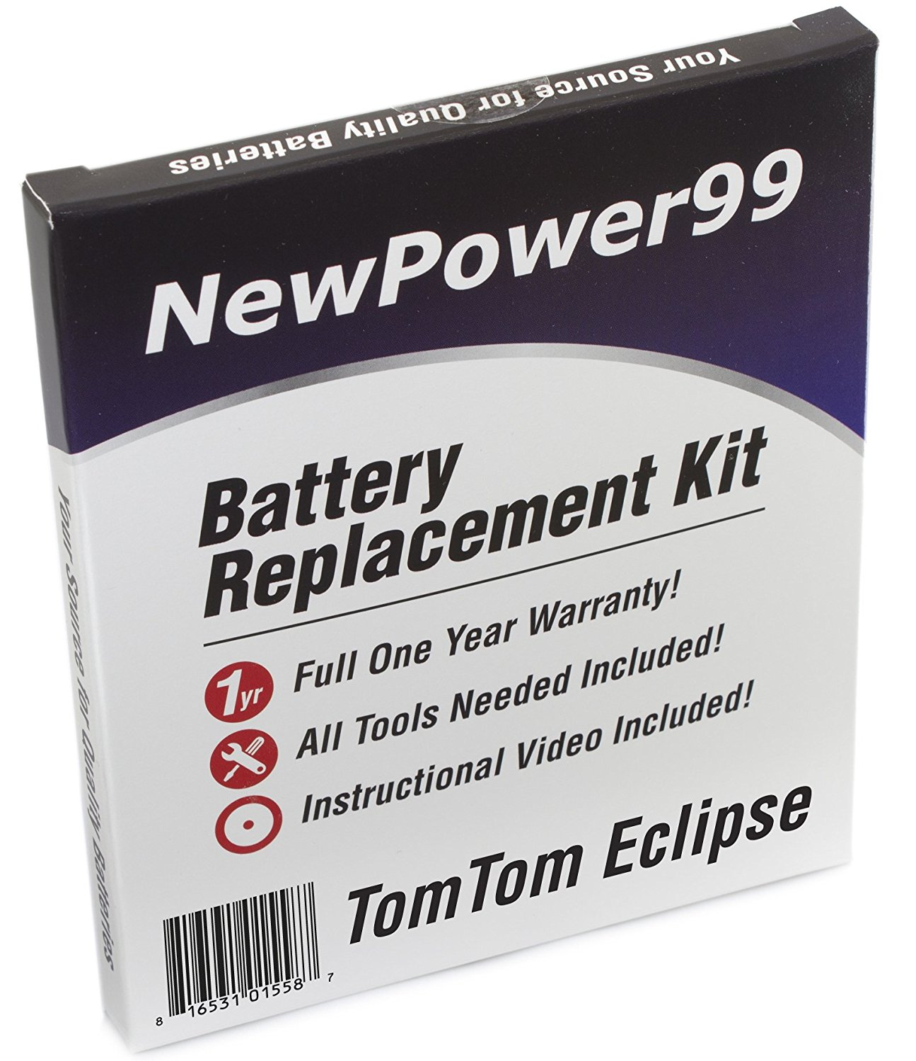 TomTom Eclipse Battery Replacement Kit with Installation Video, Tools, and Extended Life Battery