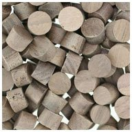 "WIDGETCO 5/16"" Walnut Wood Plugs, Face Grain"