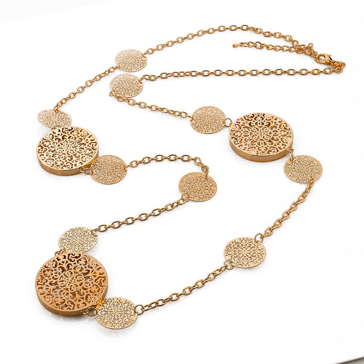 2015 Fashion Hollow Flower Of Life Pendant Chain Necklace # 2 Color Available, Can be customized