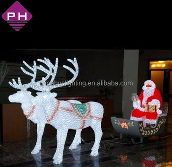 Outdoor Decoration Ip44 Reindeer With Sleigh Led Christmas Lights ...