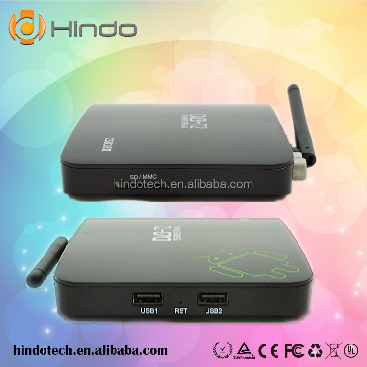 2014 DVB-T2 Android TV BOX CS818 II Media Player Amlogic Aml8726MX 1G/8G HDMI WiFi Smart IPTV Tuner Russia DVB T2 Receiver