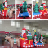 Interesting Inflatables Christmas Reindeer Decoration Deer With Santa