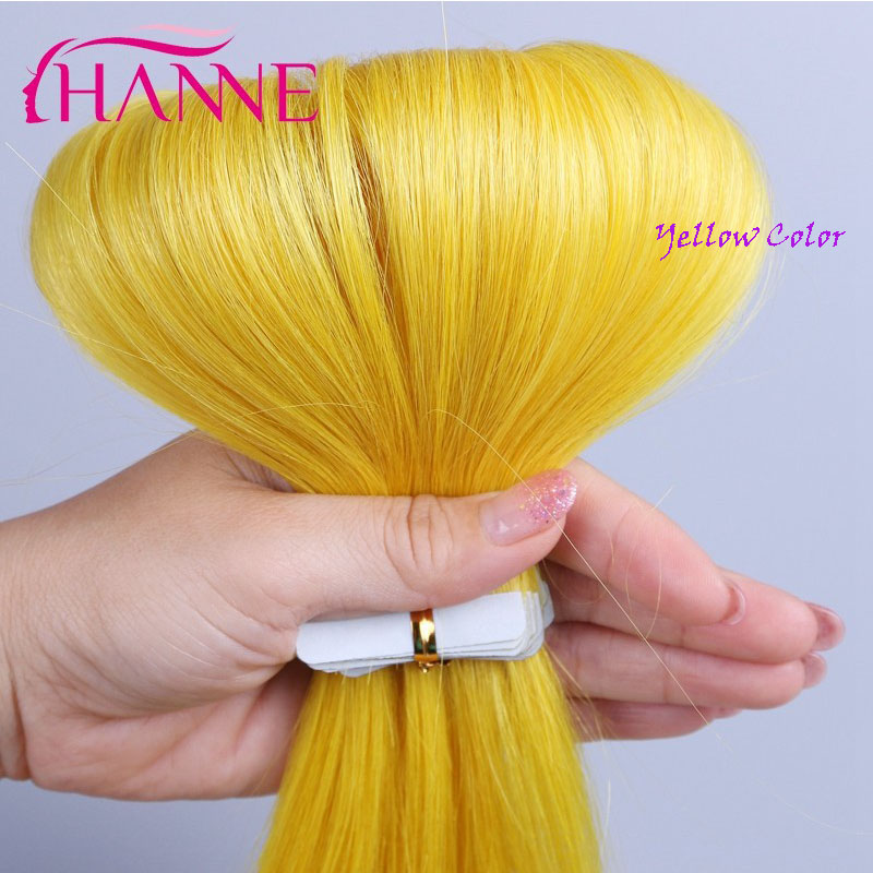 20 24 Inch Tape In Human Hair Extensions 20pcspack Hanne Skin Weft