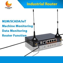 Industrial LTE 4G sim router 3g 4g wireless cellular modem with sim card slot support RS232 RJ45 for scada, bridge detect, ATM