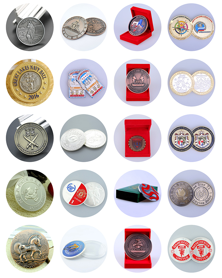 Factory direct designed silver mint cheap custom coins