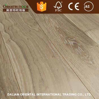 Good Quality Smoked And White Washed Oak Engineered Wood Flooring