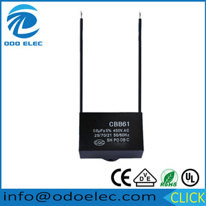 ODOELEC 0.1UF --15UF Capacitance and 250VAC 400VAC 450VAC Rated Voltage fan capacitor