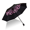 New Fashion Custom inside Flower Printing Folding Sun and Rain Umbrella with Black Coating