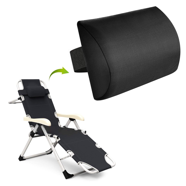 WizPower Zero Gravity Chair Replacement Pillow Headrest, Zero Gravity Recliner Lounge Chair Pillow (Black)