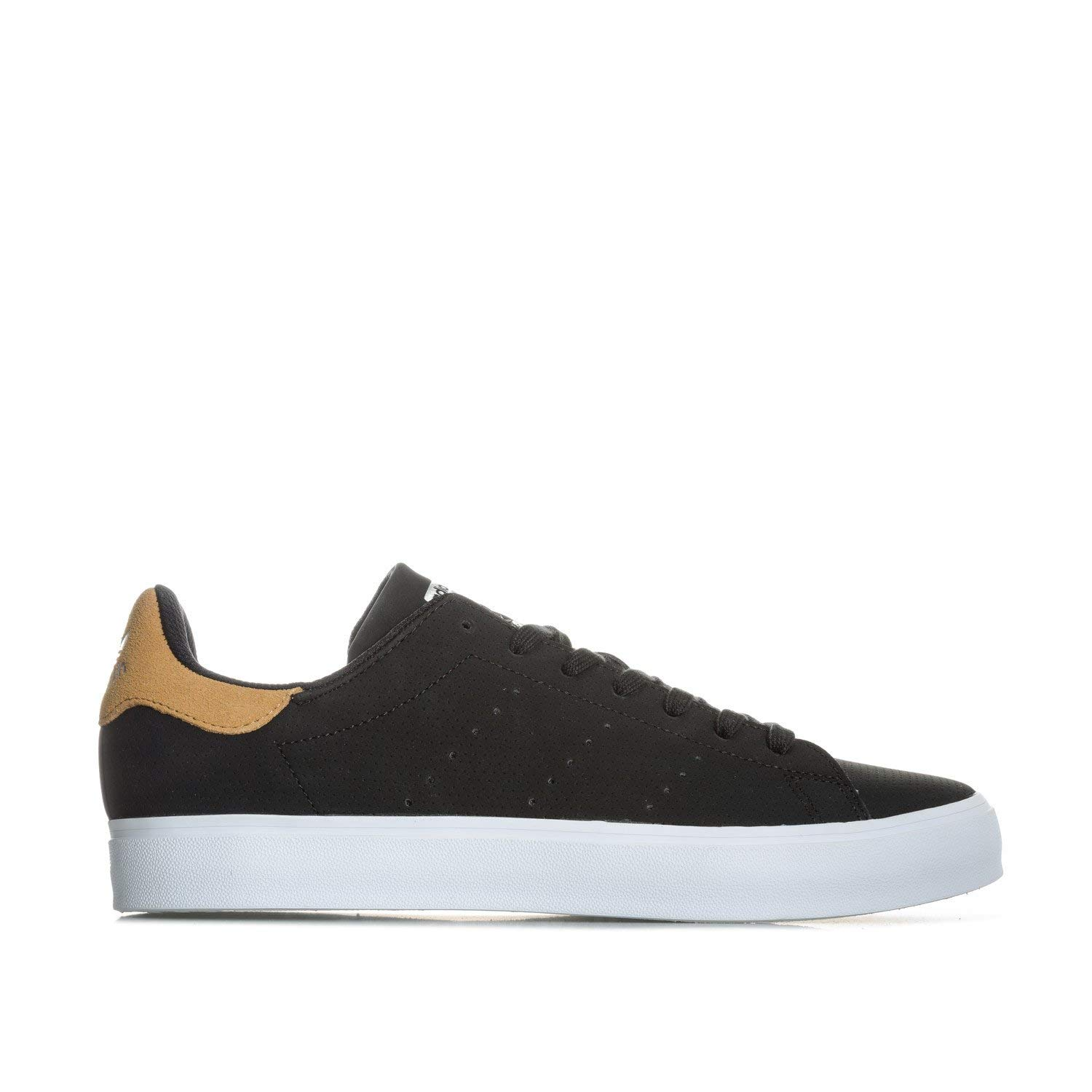 5ab06b154 Get Quotations · adidas Originals Men's Stan Smith Vulc Trainers Core  Footwear US10 Black