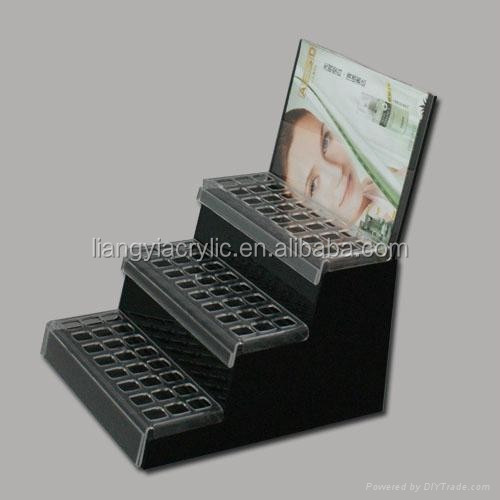 High grade acrylic cosmetic display stand for revlon