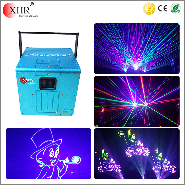 professional rgb 3w stage laser light show 3000mw multicolor ILDA text logo laser projector