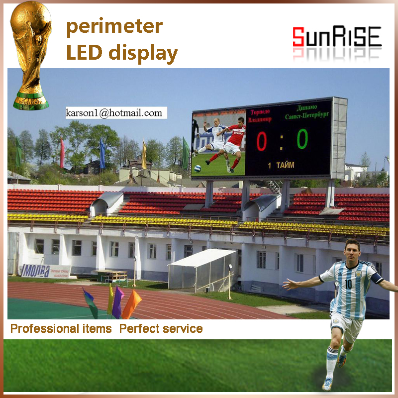 LED video wall P16mm Electronic Sport advertising perimeter led display for Sports special use