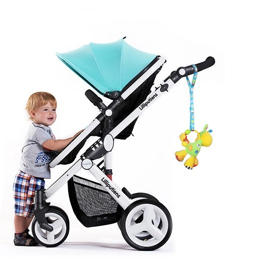 Hot sale 100 Cotton Brand new baby stroller toys anti lost strap baby stroller accessories 3Pcs