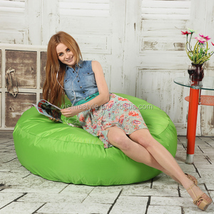 Modern cotton canvas bean bag pouf without filling
