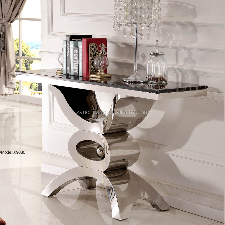 Dining Room Stainless Steel Console Table Sets X9080 - Buy Console  Table,Stainless Steel Console Table,Table Sets Product on Alibaba.com