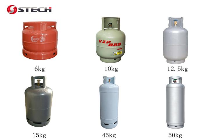 뜨거운 판매 14l 물 볼륨 6kg lpg 가스 실린더 도트 인증서