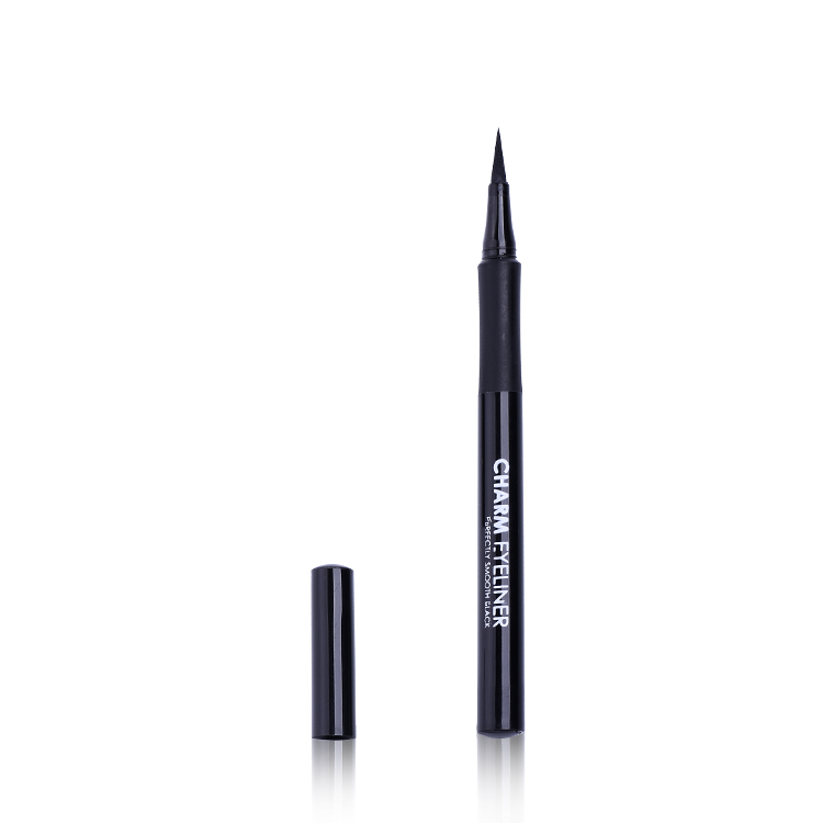 High grade private label magic non halo dyed superfine smooth waterproof liquid eyeliner pen