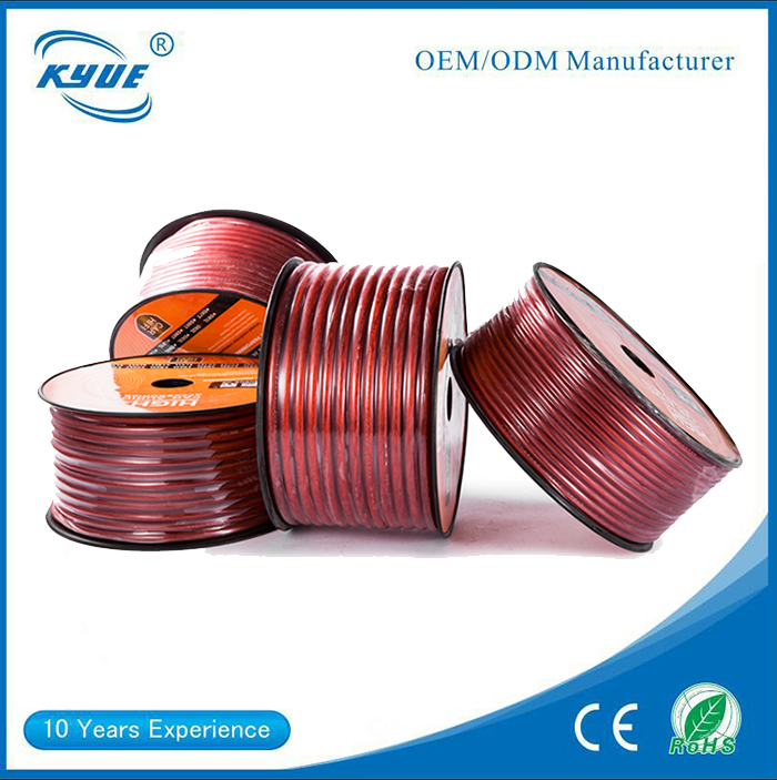 6mm car stereo flat PVC audio speaker cable wire pure <strong>copper</strong> speaker wire