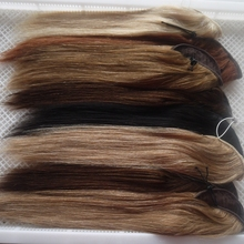 High quality wholesale price 18 20 22 inch drawstring human hair ponytail