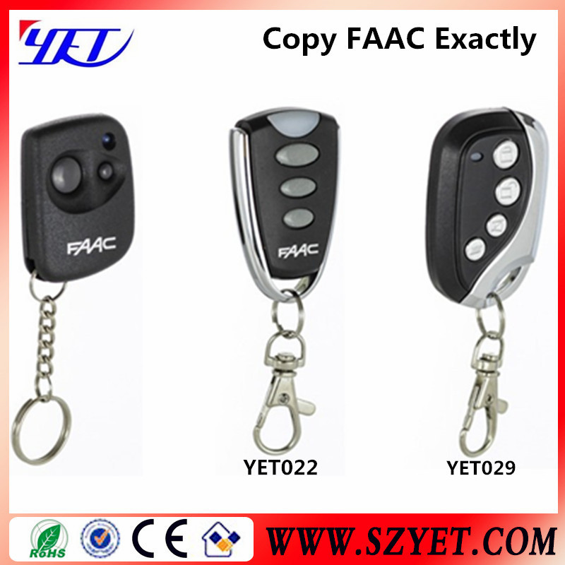 faac fix 2 3 4 remote control 433mhz YET022