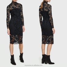 Latest casual wholesale lace dress scalloped edges designs for casual and party wear