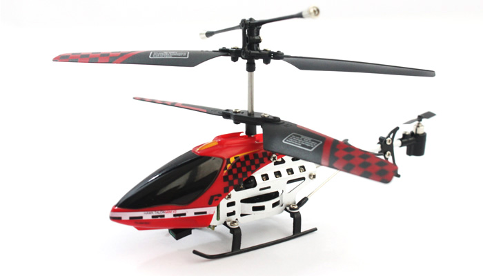 Team R/C Hawk Talon Mini Metal Helicopter w/Gyro RED