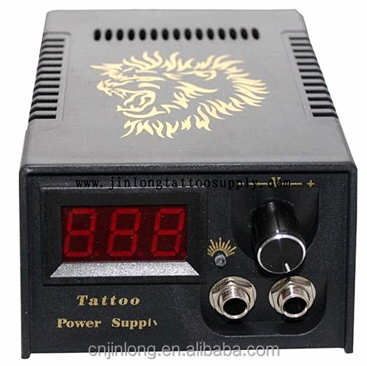 Tattoo Power Unit Cool Gold Lion Art Deign Digital LCD Display Power