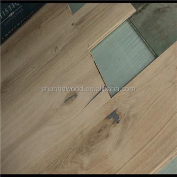 Abcd Grade Brushed Unfinished White Oak Parquet Hardwood Flooring