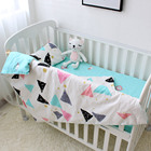 custom 100% cotton bamboo organic super soft baby cot 3 piece crib babi bedding sets for girls boys