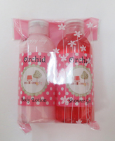 Body care pink bath spa gift set with body lotion and shower gel for lady-46213514