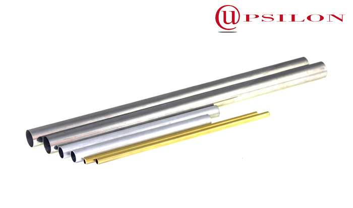 Thin walled aluminum tubing for extendable curtain poles