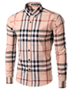 2016 New Casual Plaids Designdress long Mens dresses shirts Fashion Dress Shirts Supplier from China