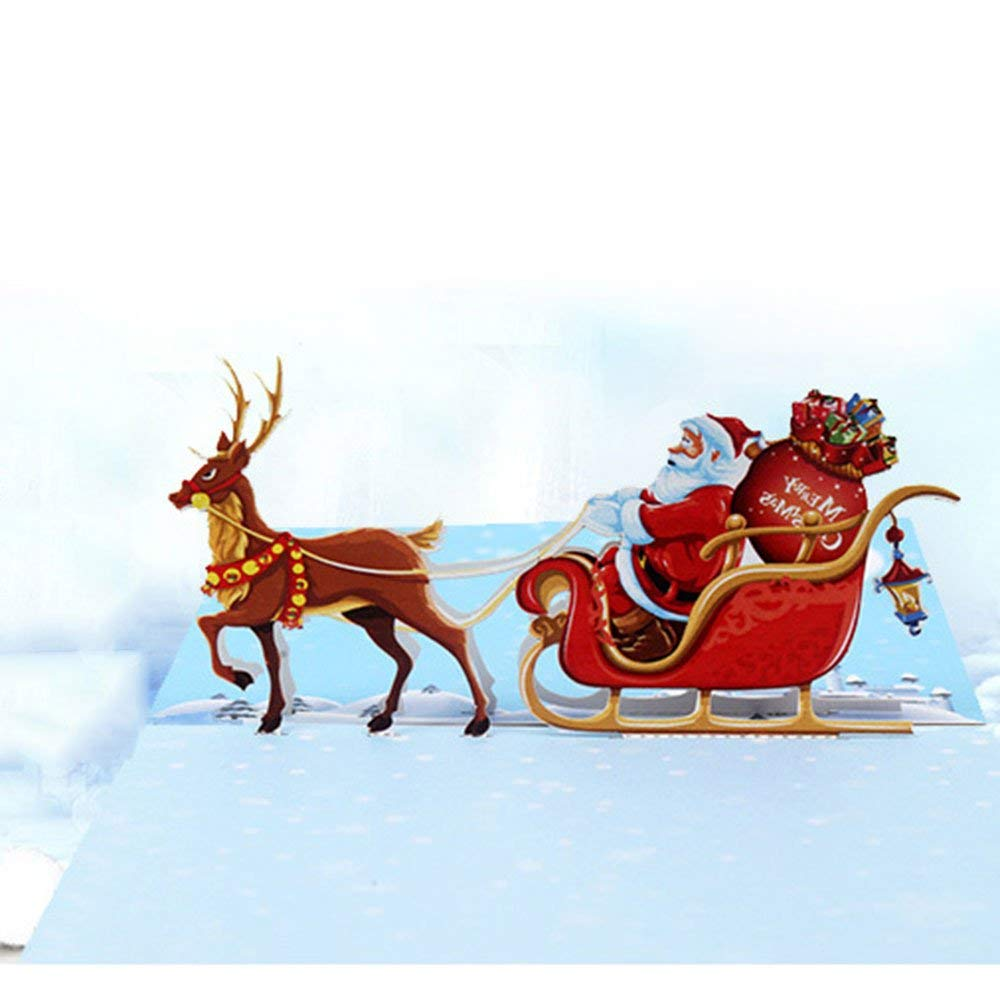 Jewelry & Watches Wedding & Anniversary Bands 3d Pop Up Santas Sleigh Greeting Card Merry Christmas Wedding Postcard Gift Craft Paper 10*15cm