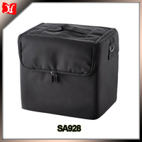 210D Black Soft Makeup Case Pockets Artist Cosmetic bag