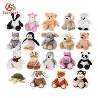 Wholesale cozy microwaveable animals plush stuffed soft heatable toy