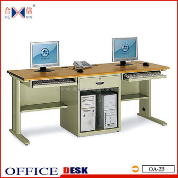 modern 2 person computer desk for two computers buy computer desk rh alibaba com two computer desk setup two level computer desk
