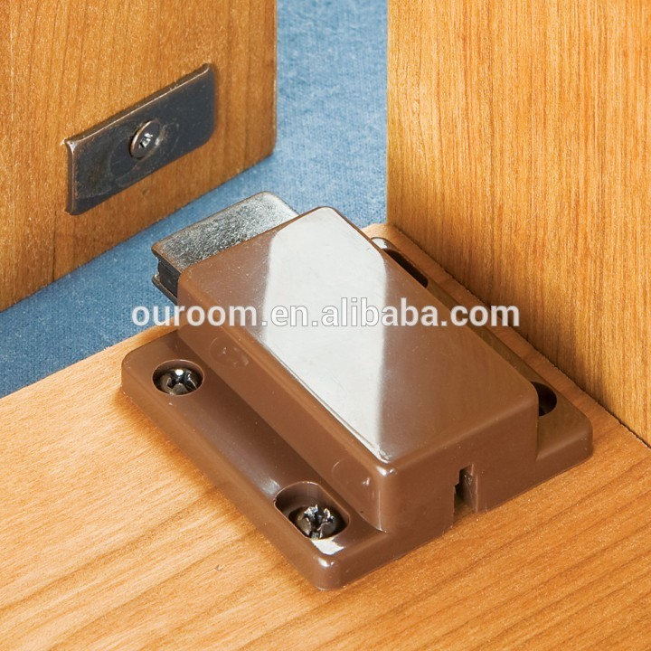 Spring-loaded Push To Open Glass Cabinet Door Single Magnetic ...